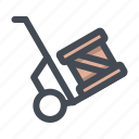 box, delivery, handtruck, package, parcel, shop icon