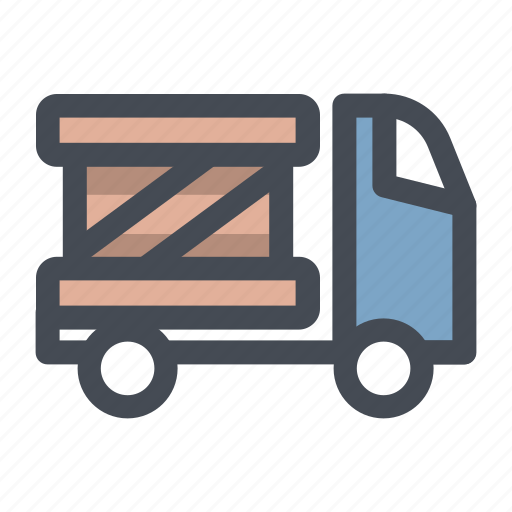 courier, delivery, goods, package, transport, truck, vehicle icon