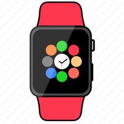 apple, clock, device, technology, watch icon