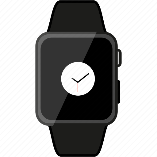 apple, device, grey, metalic, timepiece, watch icon