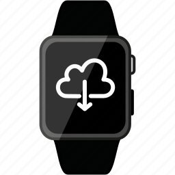 apple, cloud, download, grey, metalic, time, watch icon