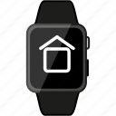 apple, grey, home, metalic, watch icon