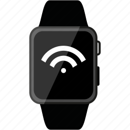 apple, grey, metalic, watch, wifi icon