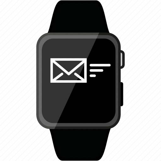 apple, email, grey, message, metalic, recieve, watch icon