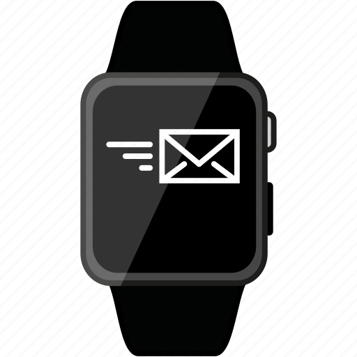 apple, email, grey, message, metalic, send, watch icon