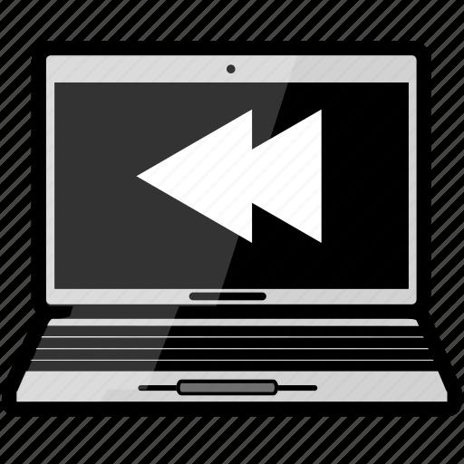 macbook, rewind icon