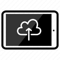 ipad, upload icon