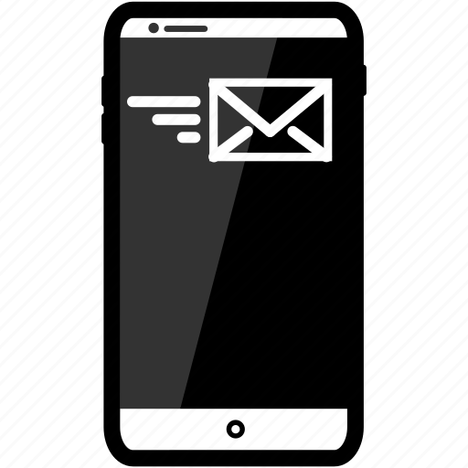 email, iphone, send icon