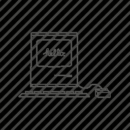 apple, computer, mac, macintosh, old mac icon