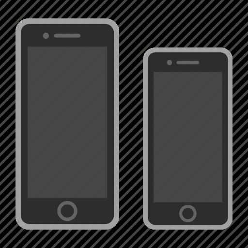 apple, iphone, mobile, phone, plus, screen, smartphone icon