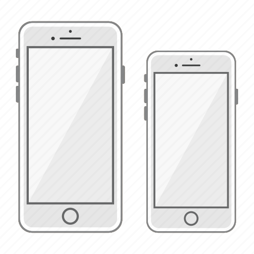 apple, iphone, mobile, phone, plus, screen, smartphone icon