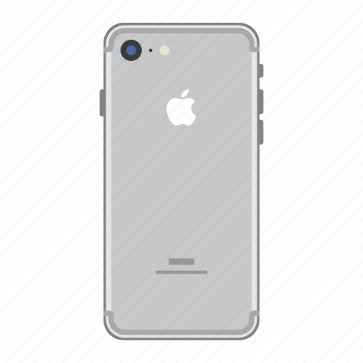 apple, iphone, mobile, phone, silver, smartphone icon