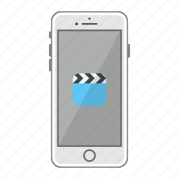 app, apple, iphone, mobile, phone, screen, videos icon