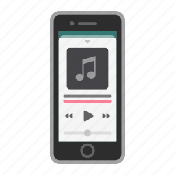 apple, ios, iphone, mobile, music, phone, screen icon