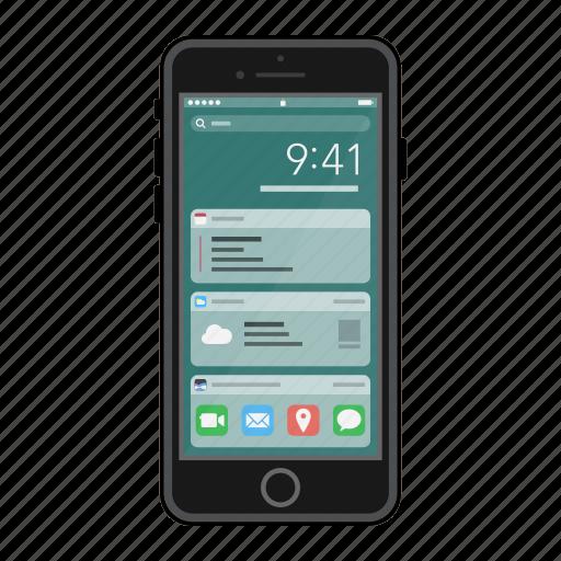 apple, ios, iphone, mobile, phone, screen, widgets icon