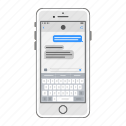 apple, ios, iphone, keyboard, messages, mobile, phone icon