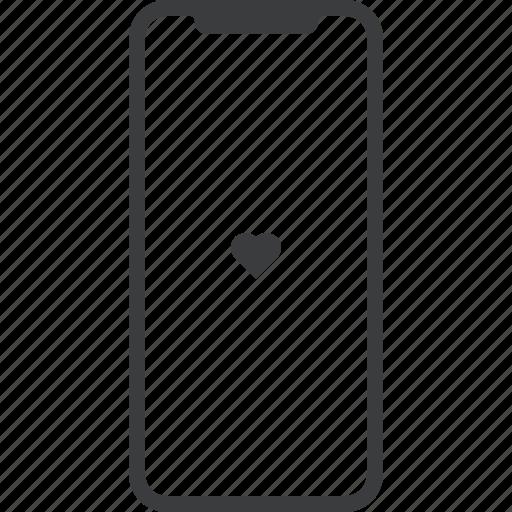apple, device, favorite, iphone, iphonex, mobile, x icon