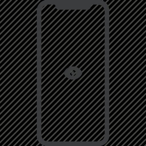 apple, device, iphone, iphonex, mobile, view, x icon