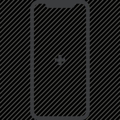 add, device, iphone, iphonex, new, x icon