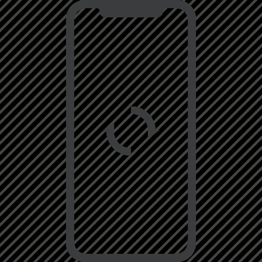 device, iphone, iphonex, refresh, sync, x icon
