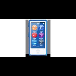 apple, blue, deep, ipod, nano, product icon