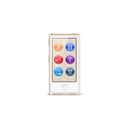apple, gold, ipod, nano, product icon