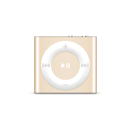 apple, gold, ipod, product, shuffle icon