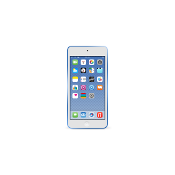 apple, blue, deep, ipod, product, touch icon