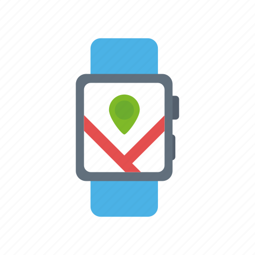 apple, gps, location, map, marker, navigation, watch icon