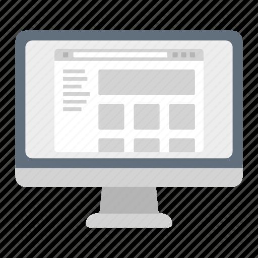 browser, imac, internet, market, shop, shopping, web icon