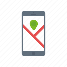 gps, iphone, location, map, marker, navigation, pointer icon