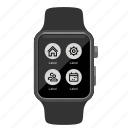 app, apple, menu, watch icon