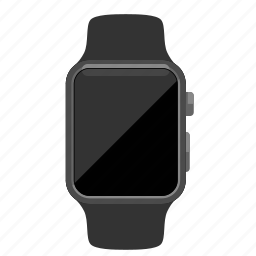 apple, blank, watch icon