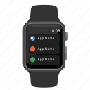 apple, context, menu, watch icon
