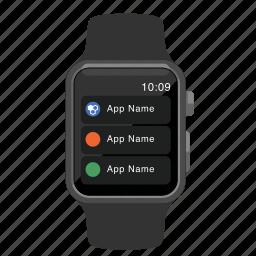 apple, context, menu, watch icon