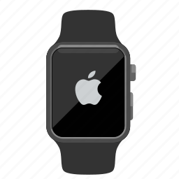 apple, logo, watch icon