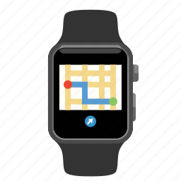 apple, map, watch icon