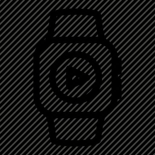 apple, audio, digital, music, play, sound, watch icon