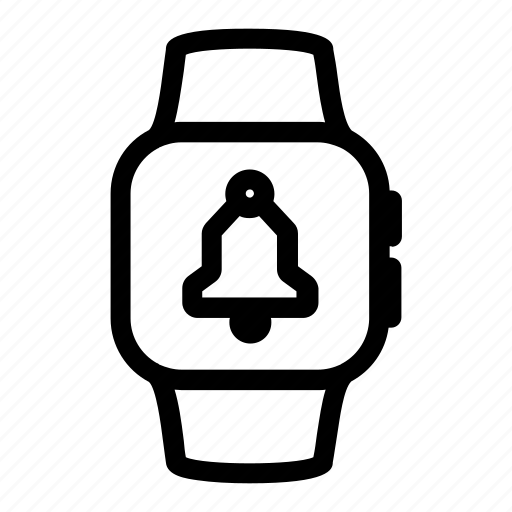 apple, bell, digital, iwatch, notification, reminder, watch icon