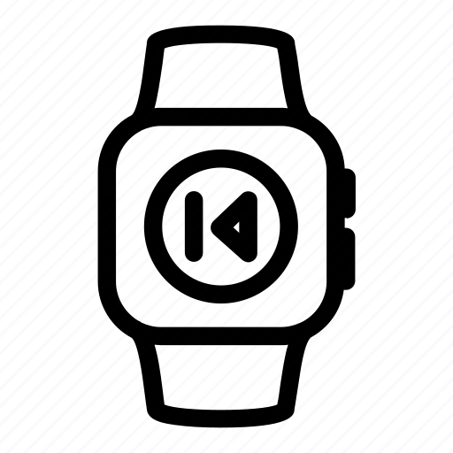 apple, audio, digital, music, previous, sound, watch icon