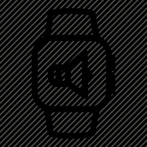 apple, digital, gadget, music, sound, volume, watch icon