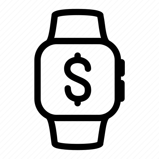 apple, currency, digital, dollar, gadget, money, watch icon