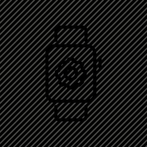 apple watch, device, gear, mobile, screen, settings, watchos icon