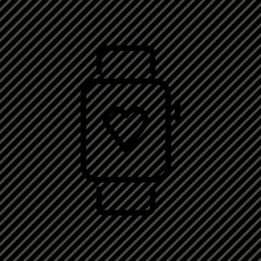 apple watch, device, health, heart, mobile, screen, watchos icon