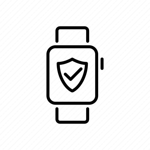 apple watch, device, mobile, protection, screen, shield, watchos icon