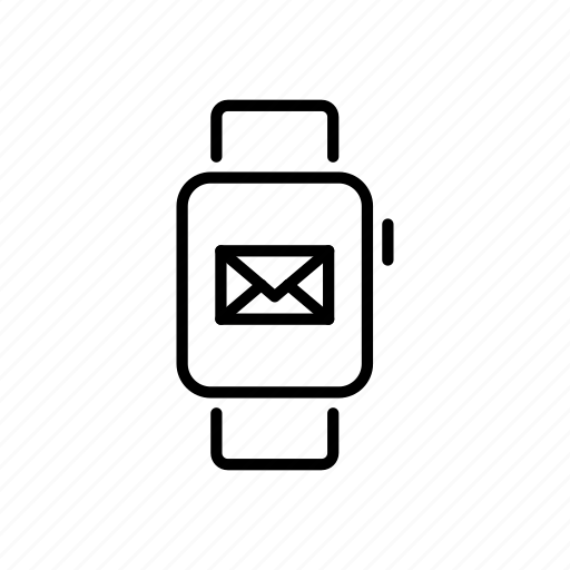 apple watch, device, email, message, mobile, screen, watchos icon