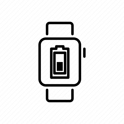 apple watch, battery, charge, device, mobile, screen, watchos icon