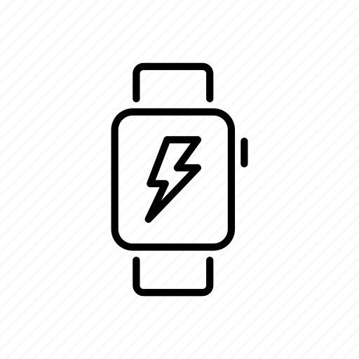 Apple watch, charge, device, lightning bolt, mobile, screen, watchos icon - Download on Iconfinder