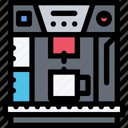 appliances, coffee maker, electronics, gadget, kitchen, technique icon