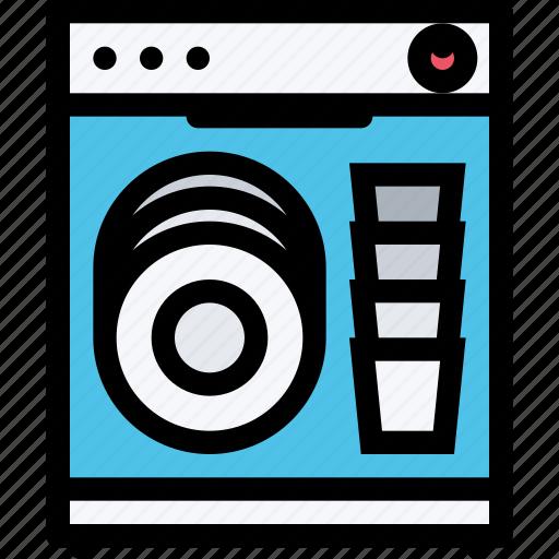 appliances, dishwasher, electronics, gadget, kitchen, technique icon